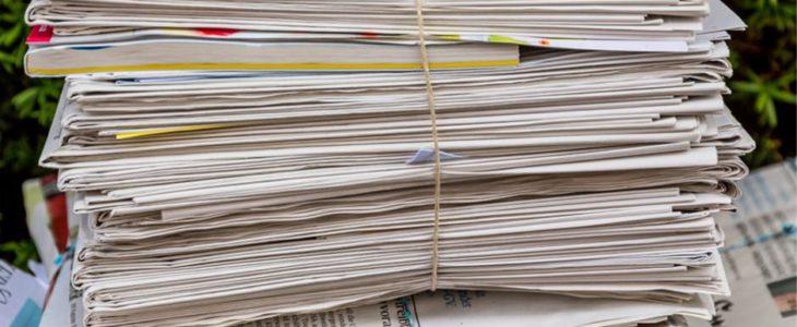 récolte de papier